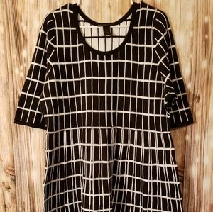 Lane Bryant black white sweater dress sz 18/20